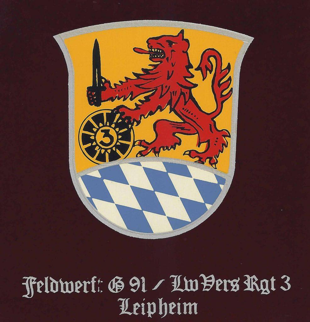 Wappen symbolisierte so wohl die 1. Staffel (ohneText) als auch später der Feldwerft G91.